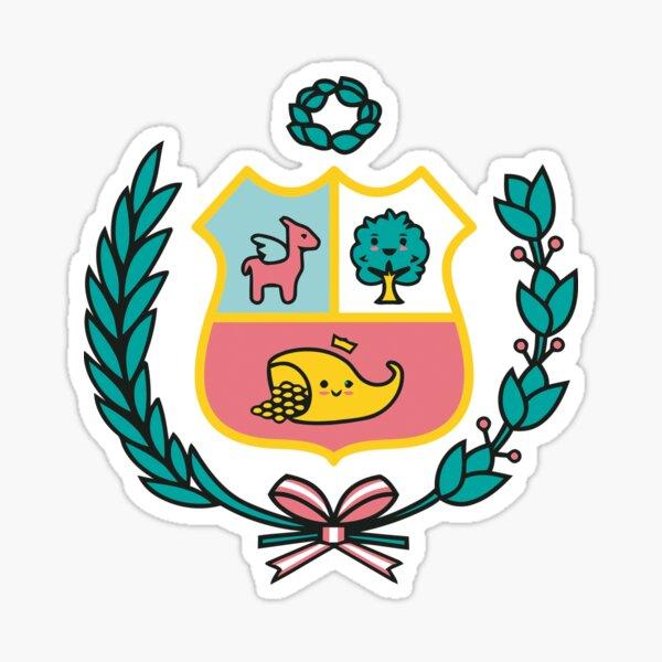 Beautiful Peruvian Shield Sticker