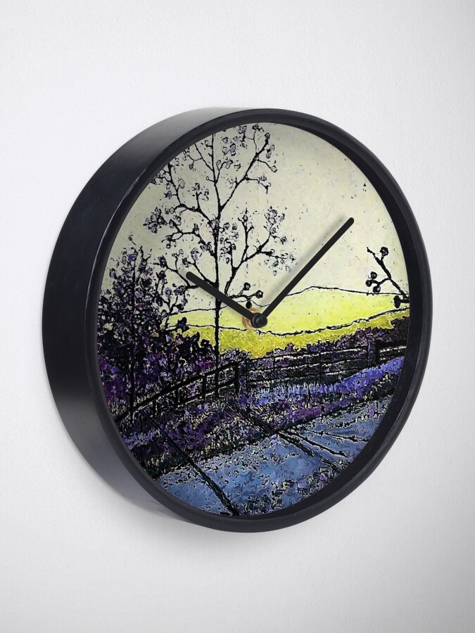 Alternate view of Lemon and Lavendar by Merideth Young Clock