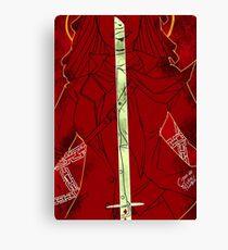 Michonne Tarot Card Canvas Print