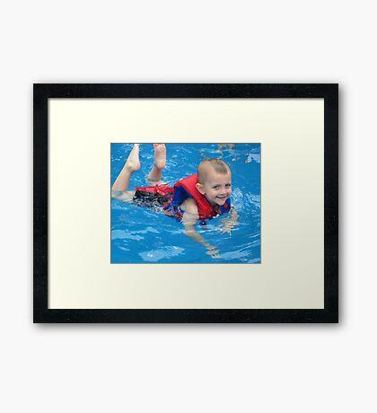 Swim, Caden, Swim Framed Print