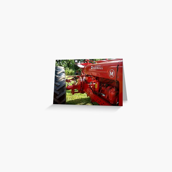Long Beautiful FARMALL Greeting Card
