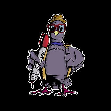 backpack pigeon by dirtycitypigeon