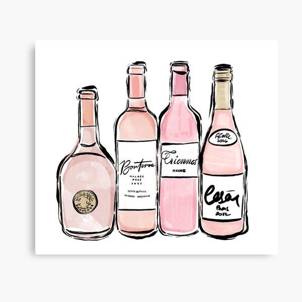 Rose Wine Print Canvas Print