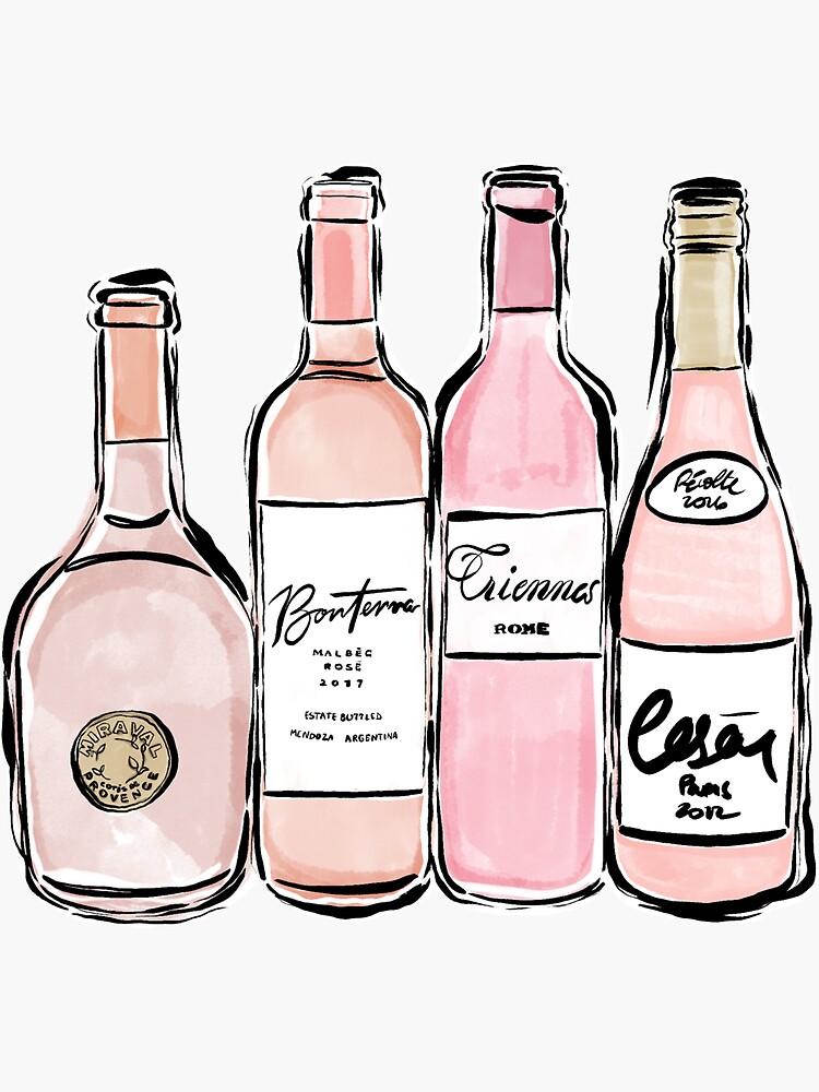 Rose Wine Print by alexaferragamo