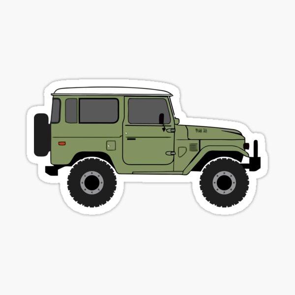 Green Land Cruiser - FJ40 Sticker
