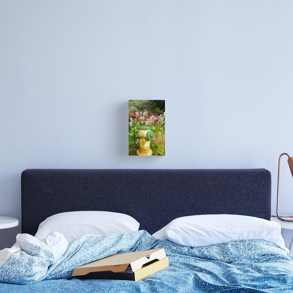 Flower Hydrant Canvas Print