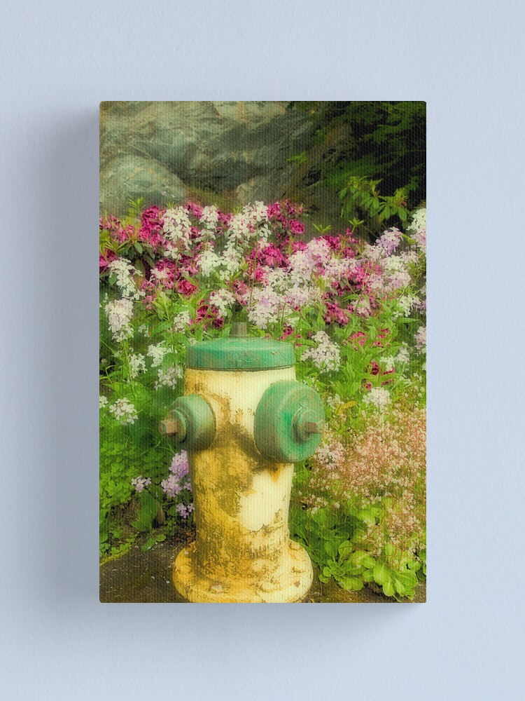 Alternate view of Flower Hydrant Canvas Print