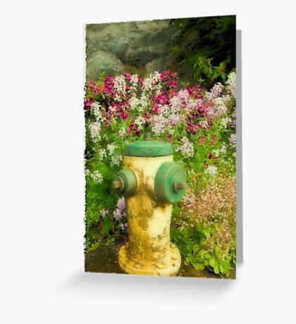 Flower Hydrant Greeting Card