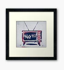 SLAVE Framed Print