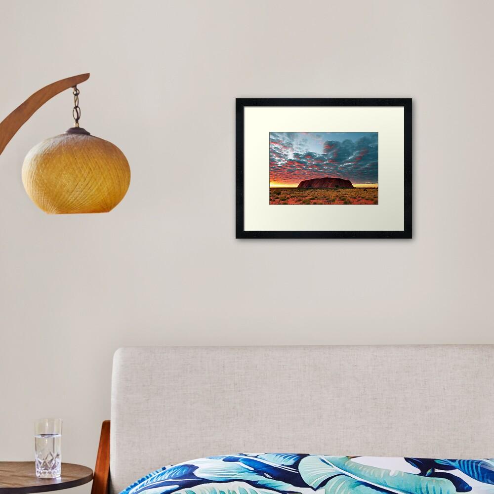 Ayers Rock (Uluru) Sunrise, Australia Framed Art Print