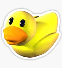 Yellow Rubber Duckie Sticker