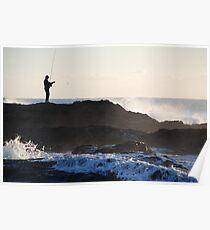 White Water Fishing Poster