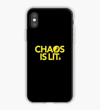Chaos Is Lit  iPhone Case