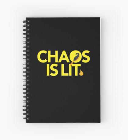 Chaos Is Lit  Spiral Notebook