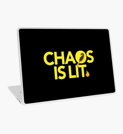 Chaos Is Lit  Laptop Skin
