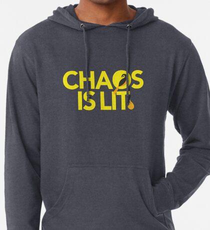 Chaos Is Lit  Lightweight Hoodie