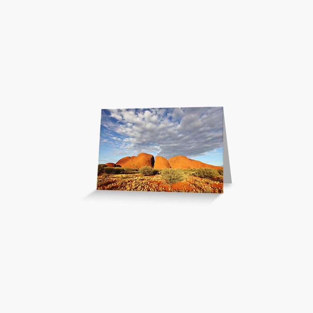 The Olgas (Kata Tjuta), Sunset, Australia Greeting Card