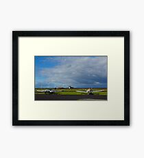 Why are they inactive?. Tooradin airport. Australia. Framed Print