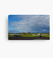 Why are they inactive?. Tooradin airport. Australia. Canvas Print