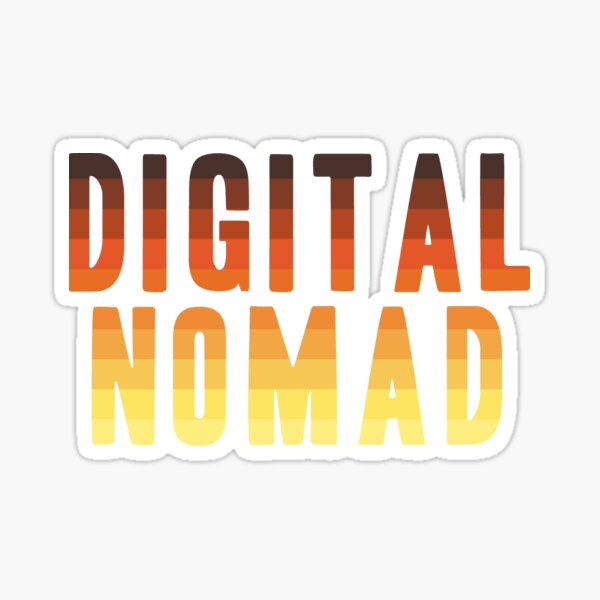 Digital Nomad Sticker