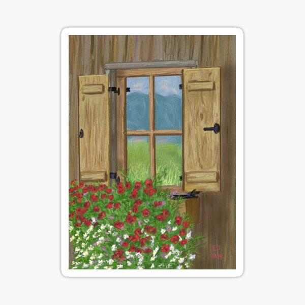 Window Box Flowers  Sticker