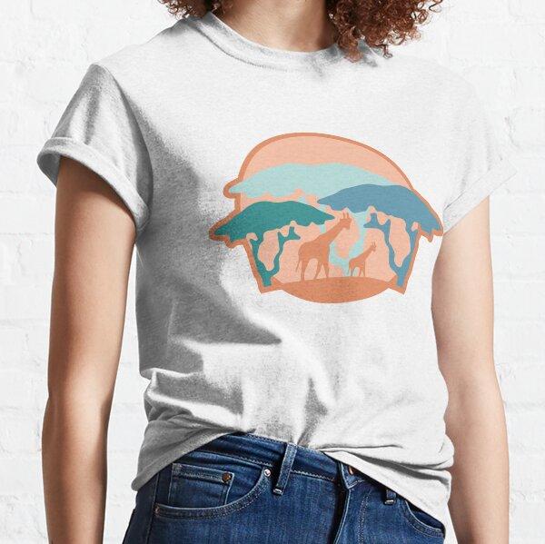 Giraffe Safari Sunset Classic T-Shirt
