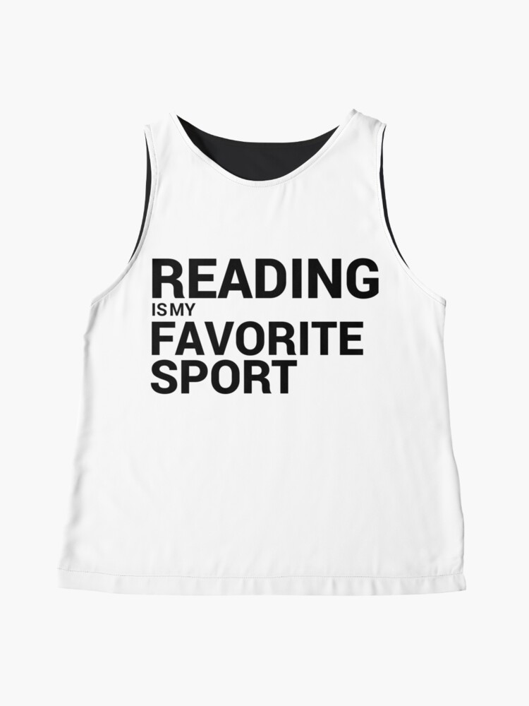 Alternate view of Reading is my Favorite Sport Sleeveless Top