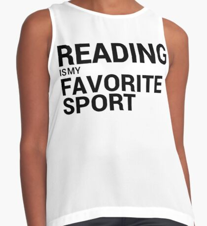 Reading is my Favorite Sport Sleeveless Top