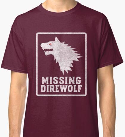 Missing Direwolf  Classic T-Shirt