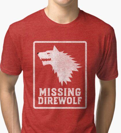 Missing Direwolf  Tri-blend T-Shirt