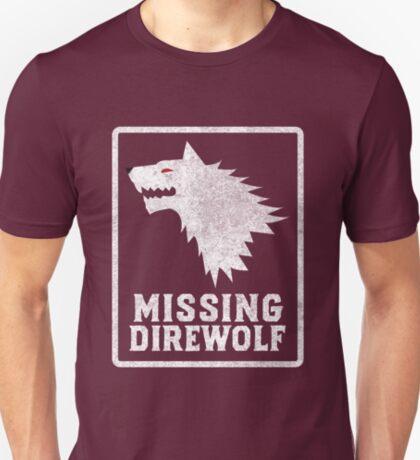 Missing Direwolf  T-Shirt