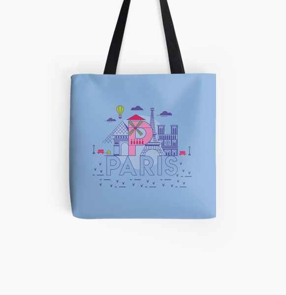 Paris All Over Print Tote Bag