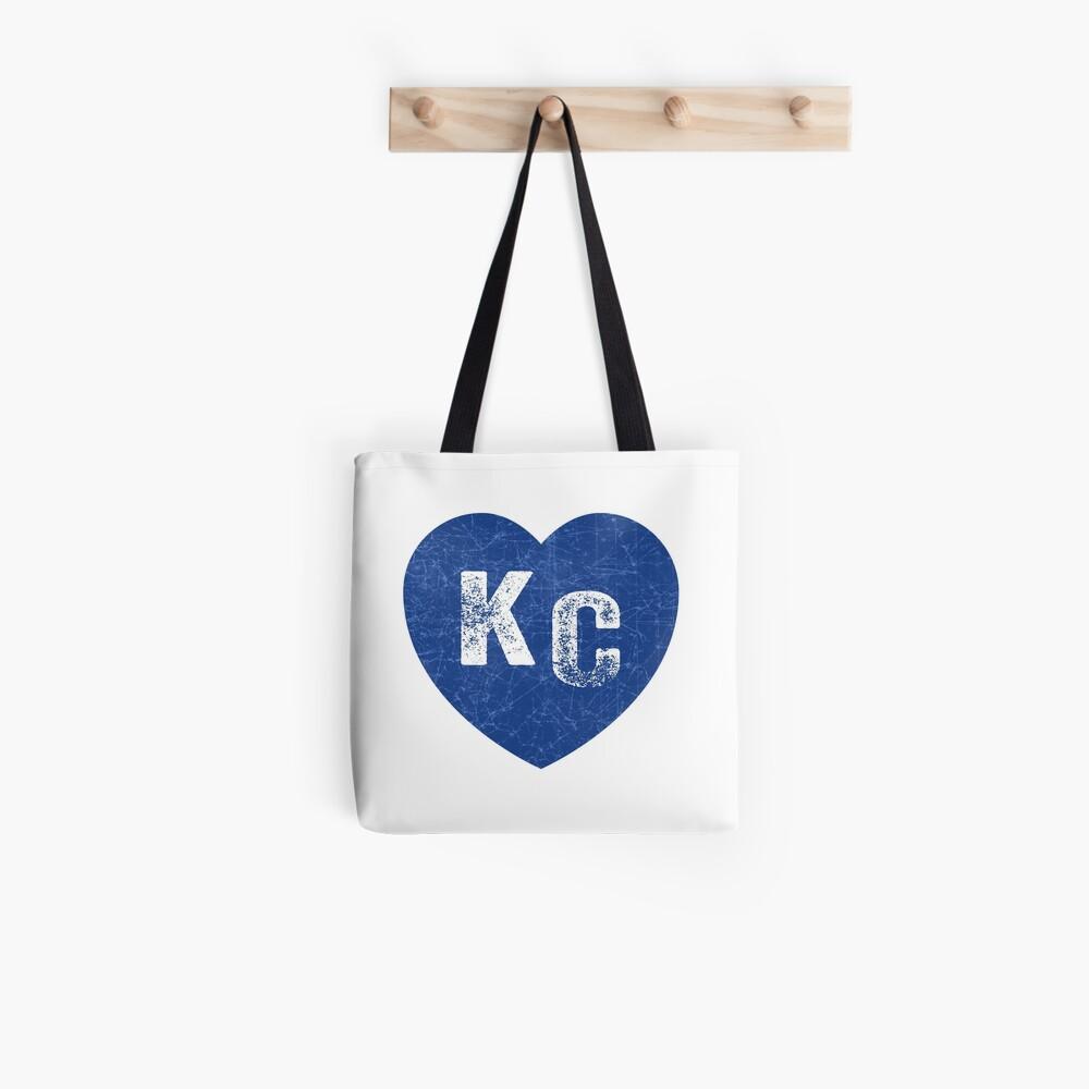 Royal Blue KC Blue Heart Kansas City Hearts I Love Kc heart Kansas city KC Face mask Kansas City facemask Tote Bag