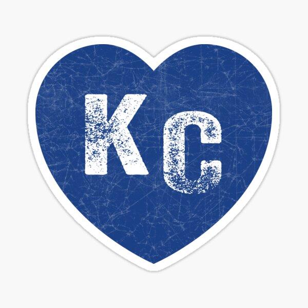 Royal Blue KC Blue Heart Kansas City Hearts I Love Kc heart Kansas city KC Face mask Kansas City facemask Sticker