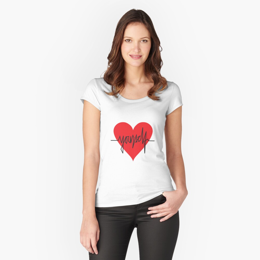 love yourself - zachary martin Fitted Scoop T-Shirt