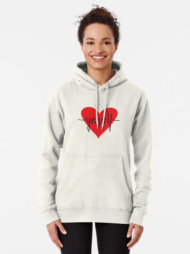 Alternate view of love yourself - zachary martin Pullover Hoodie