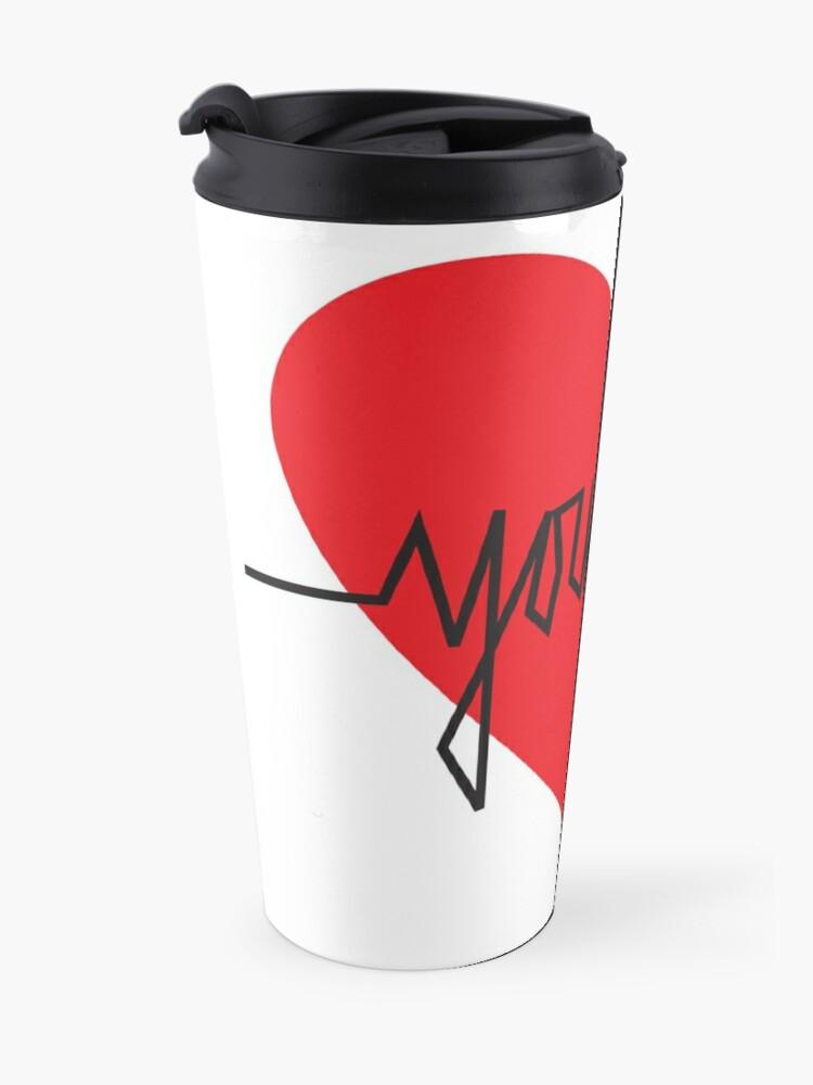 Alternate view of love yourself - zachary martin Travel Mug