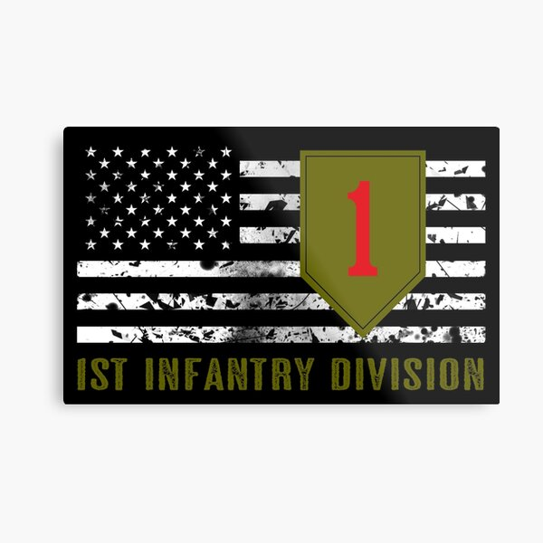1st Infantry Division (Distressed Flag) Metal Print
