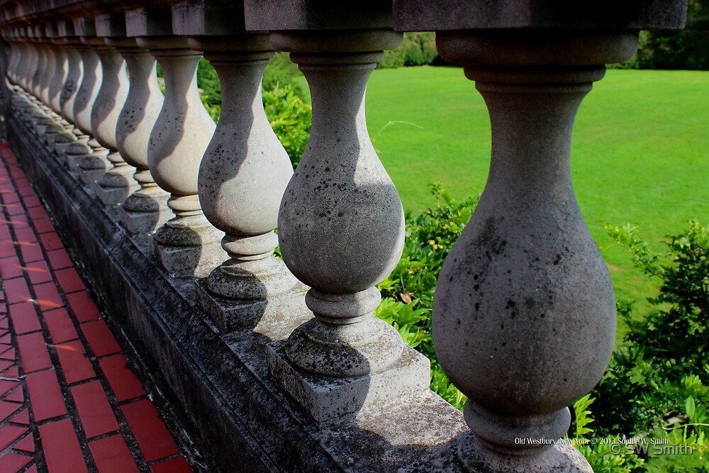 Balustrade | Old Westbury, New York  by © Sophie W. Smith