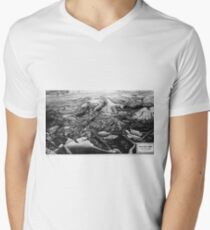 Norilsk, Norillag Map V-Neck T-Shirt