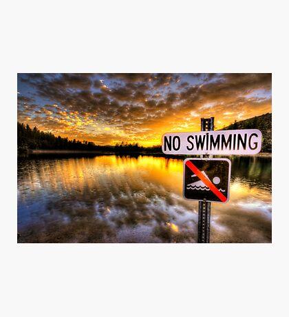 No Swimming Photographic Print