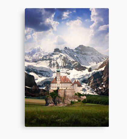 Imaginary landscapes: The castle Canvas Print