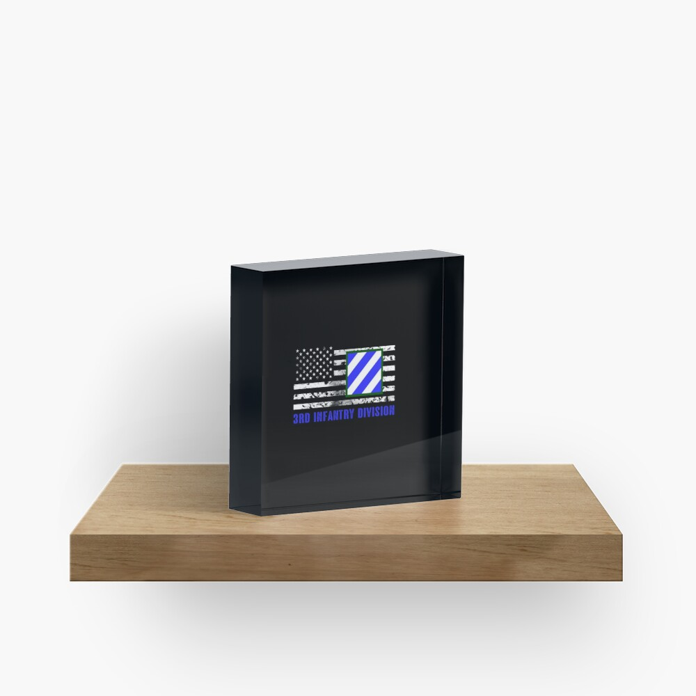 3rd Infantry Division (Distressed Flag) Acrylic Block