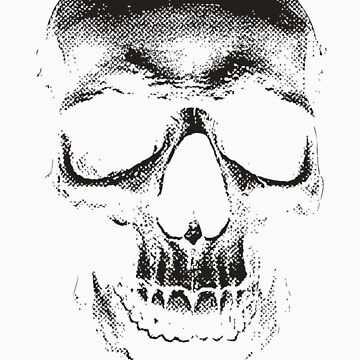 faded skull by inksanity