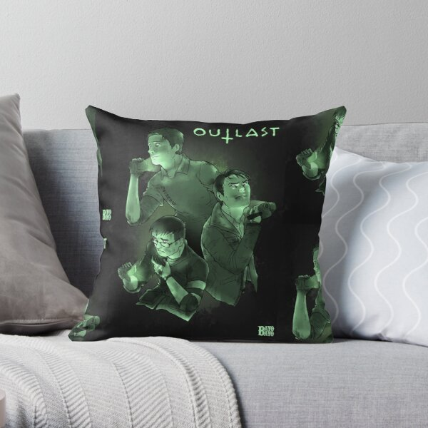 Three Peas in a A Pod (Night Vision) Throw Pillow