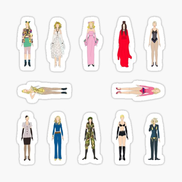Outfits of Madge Fashion Sticker