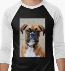 Boxer-Porträt - Boxer-Hundeserie Baseballshirt mit 3/4-Arm