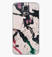 Abstract expressionism in red and green Case/Skin for Samsung Galaxy