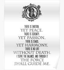 The Grey Jedi Code Poster