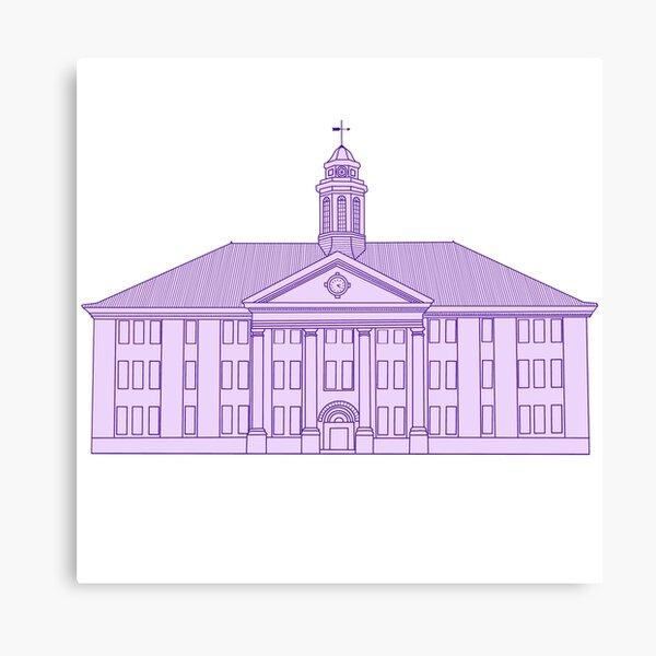 JMU Wilson Hall Purple - James Madison University Canvas Print